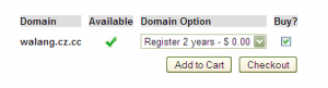 How to register co.zz free domain step 2