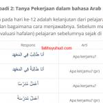 Informasi Pribadi 2: Tanya Pekerjaan dalam bahasa Arab