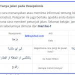 Cara Tanya Jalan dalam bahasa Arab