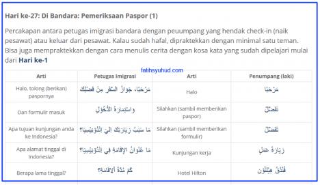 Pemeriksaan Paspor di Bandara dengan bahasa Arab