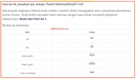 34. Cara Menyatakan Setuju dalam Bahasa Arab