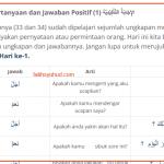35. Pertanyaan dan Jawaban Setuju dalam bahasa Arab