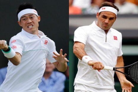 Federer Kalahkan Nishikori di Perempat Final Wimbledon
